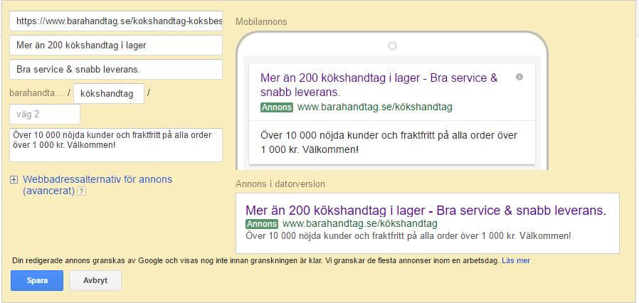 nya google adwords