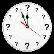 klocka med frågetecken